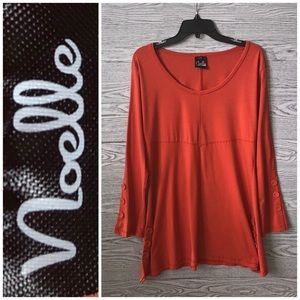 Noelle | Pumpkin Orange Button Detail Tunic (L/XL)